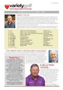 Variety Golf Newsletter - 22 June 2020