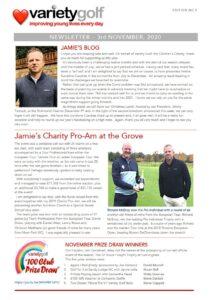 Variety Golf Newsletter - 3 November 2020